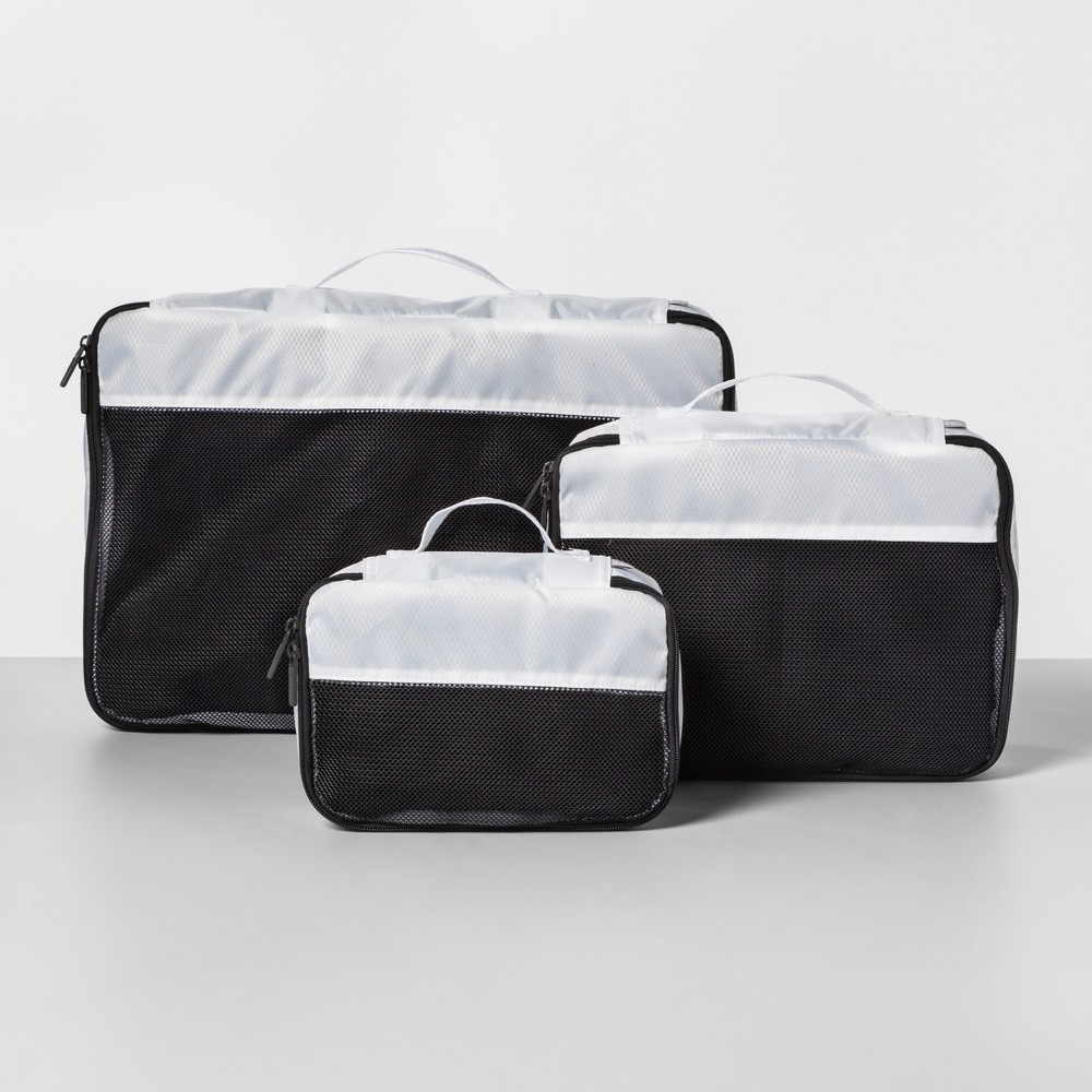 Image of 3pc Packing Cube Set White - Made By Design