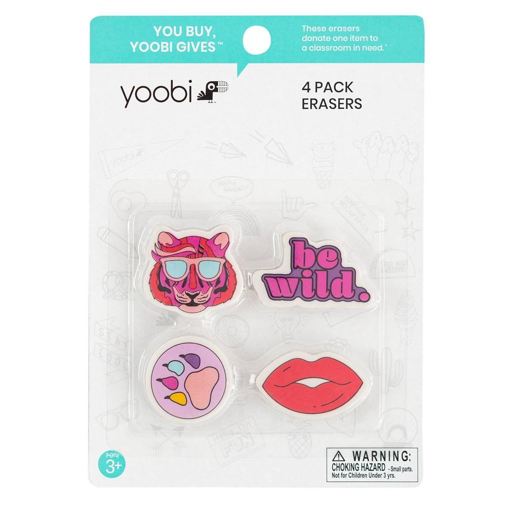 Image of 4pk Be Wild Erasers - Yoobi