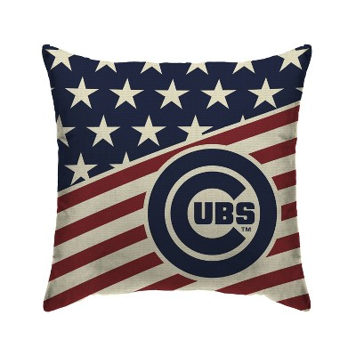 Mlb Chicago Cubs Americana Decorative Throw Pillow Target