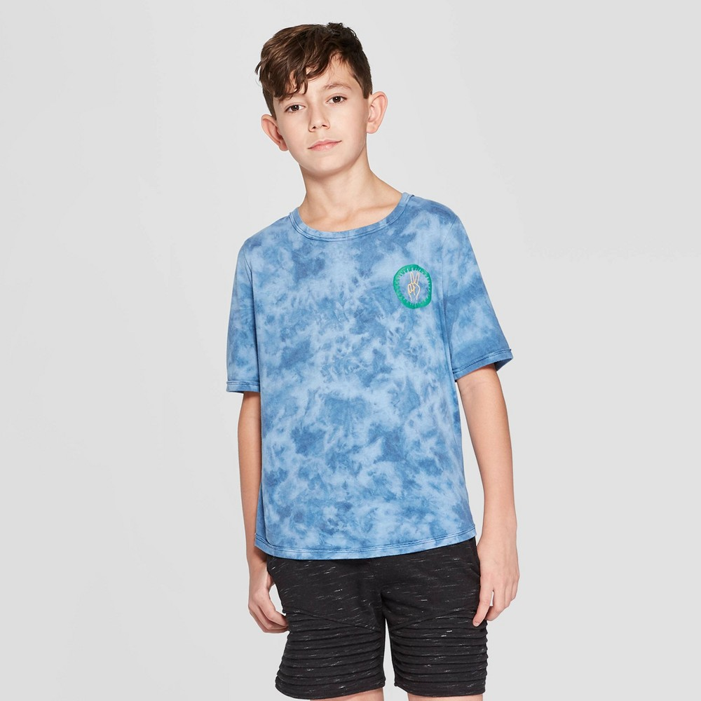 Boys' Short Sleeve Tie Dye Graphic T-Shirt - art class Blue S