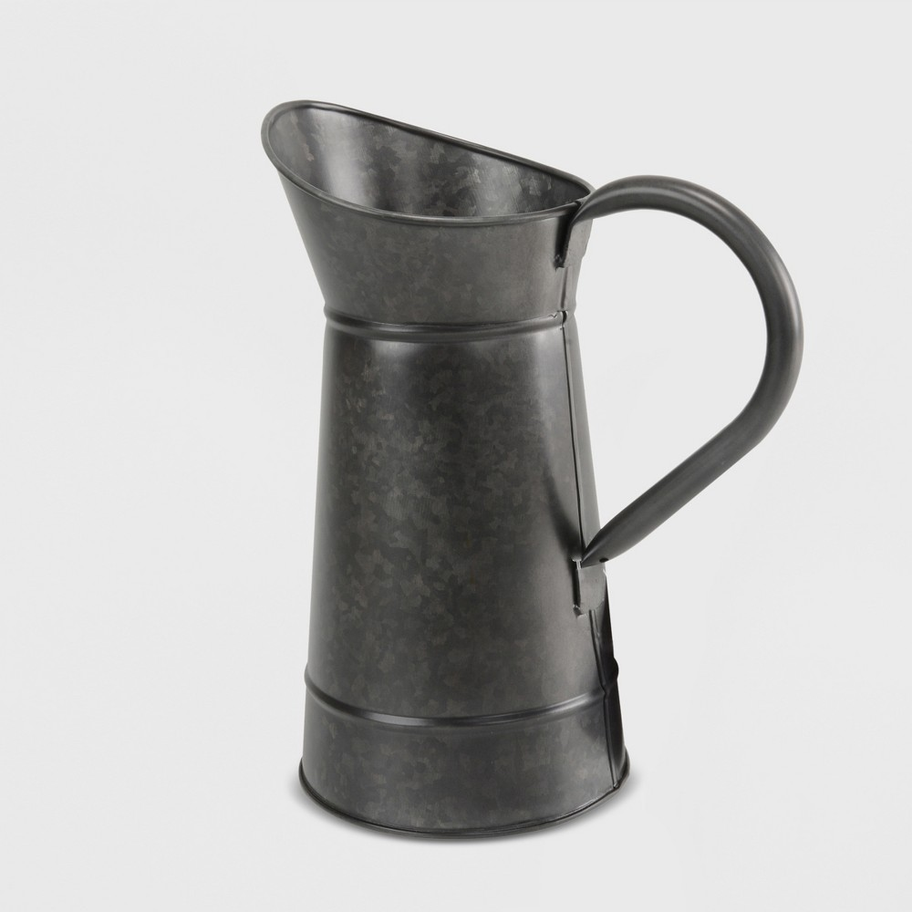 "Image of ""12"""" Metal Watering Pitcher Black - Smith & Hawken"""