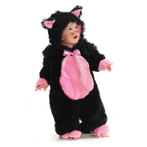 Baby Girls' Black & Pink Kitty Halloween Costume - image 1 of 1
