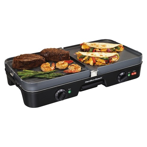 Hamilton Beach Black 3 in 1 Grill/Griddle- 38546 - image 1 of 4