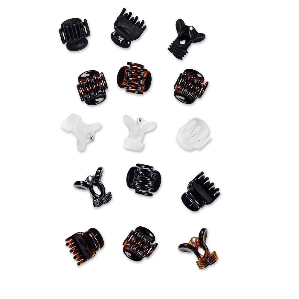Conair Scunci Mini Jaw Clips - 15pk, Black