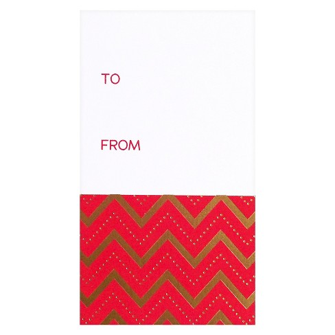 meant to be sent® Red & Gold Gift Tag - image 1 of 1