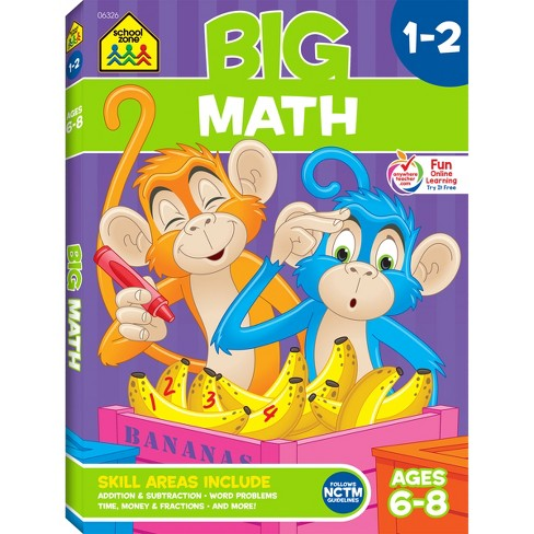 Big Math Workbook Grades 1-2, Ages 6-8 (School Zone Publishing) (Paperback) - image 1 of 4