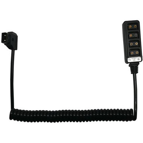 AndyCine D-Tap Male to 4-Port D-Tap Female Coiled Splitter Cable - image 1 of 4