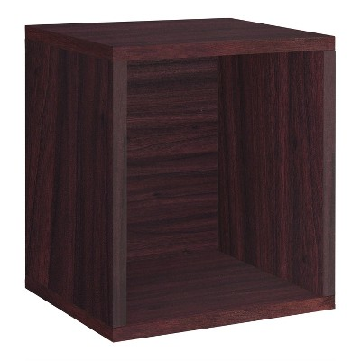 Way Basics Stackable Eco Storage Cube Cubby Organizer Espresso Wood Grain