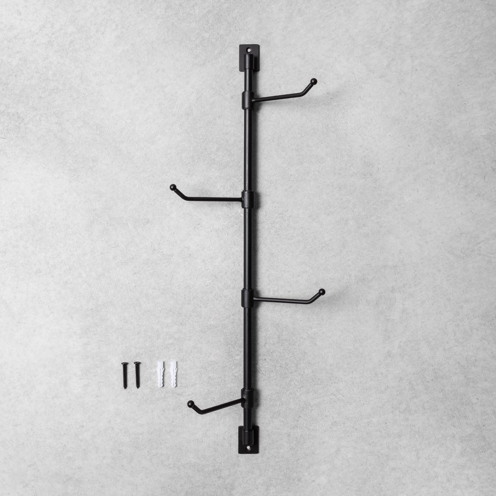 """Image of """"36"""""""" Vertical Mounted Hook Rack - Hearth & Hand with Magnolia, Black"""""""