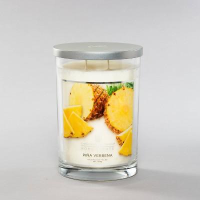 19oz Glass Jar 2-Wick Candle Piña Verbena - Home Scents by Chesapeake Bay Candle