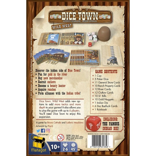 Dice Town: Wild West Board Game image number null