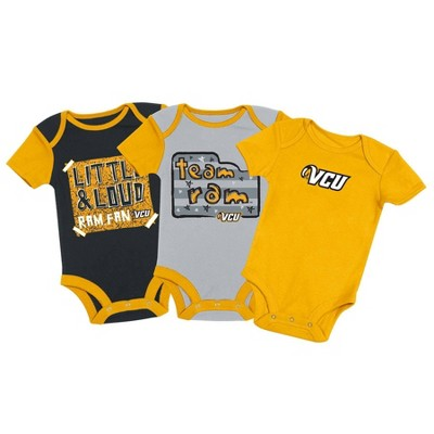 NCAA VCU Rams Baby Boys' 3pc Bodysuit Set