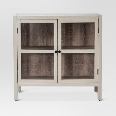 Hadley 2-Door Accent Cabinet Gray - Threshold™