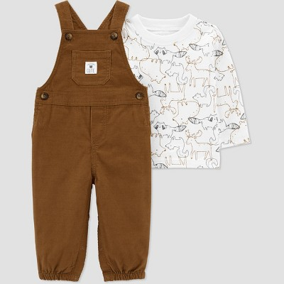 Baby Boys' Animal Top & Bottom Set - Just One You® made by carter's Brown 6M