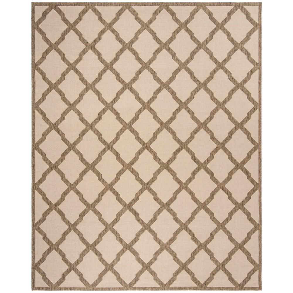 9X12 Geometric Loomed Area Rug Cream/Beige - Safavieh Reviews