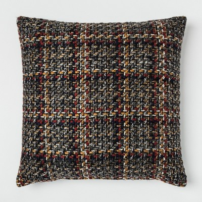 Woven Plaid Oversized Square Throw Pillow Blue - Threshold™