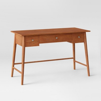 Amherst Mid Century Modern Writing Desk Brown   Project 62™ : Target