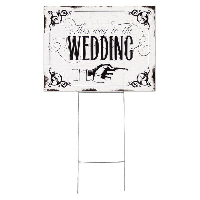 Wedding Yard Sign -  This Way To The Wedding