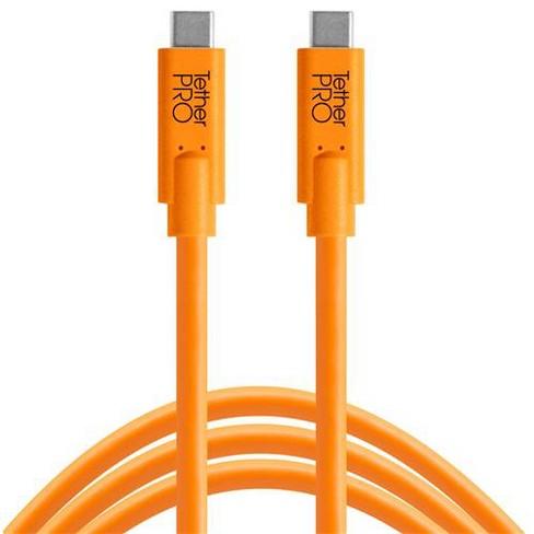 Tether Tools TetherPro USB-C to USB-C Cable, 15', Orange - image 1 of 2