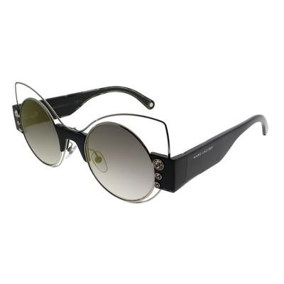 Marc Jacobs Marc 1/S U4T Womens Cat-Eye Sunglasses Silver Black 49mm