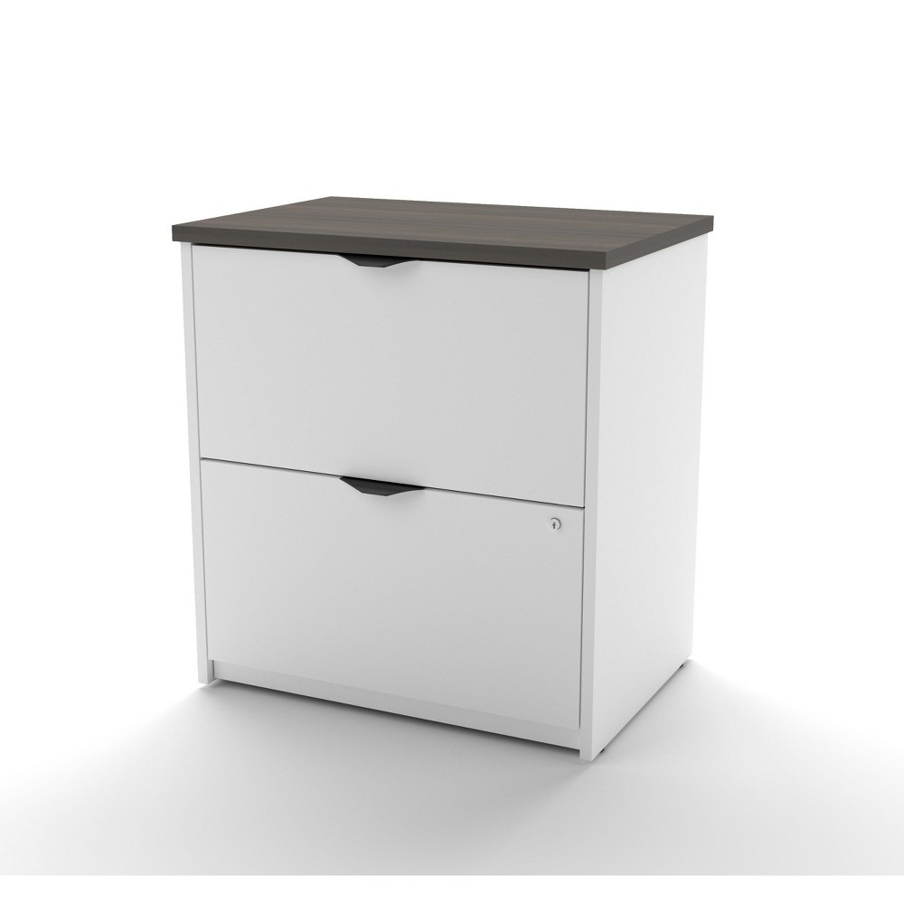 Image of 2 Drawer Innova File Cabinet White/Gray - Bestar