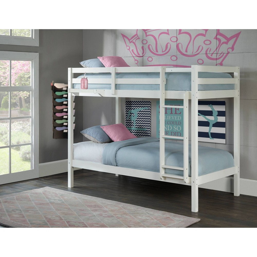 Kids Twin Over Twin Caspian Bunk Bed with Hanging Nightstand White - Hillsdale Furniture Kids Twin Over Twin Caspian Bunk Bed with Hanging Nightstand White - Hillsdale Furniture Gender: unisex.
