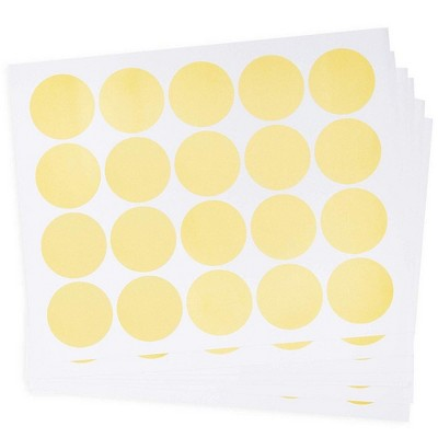 Paper Junkie 200-Pack Round Metallic Vinyl, Polka Dot Sticker Decals for Bedroom Wall Décor, 2 in