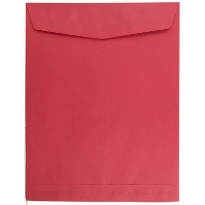 JAM Paper 50pk 10 x 13 Open End Catalog Envelopes - Red Recycled