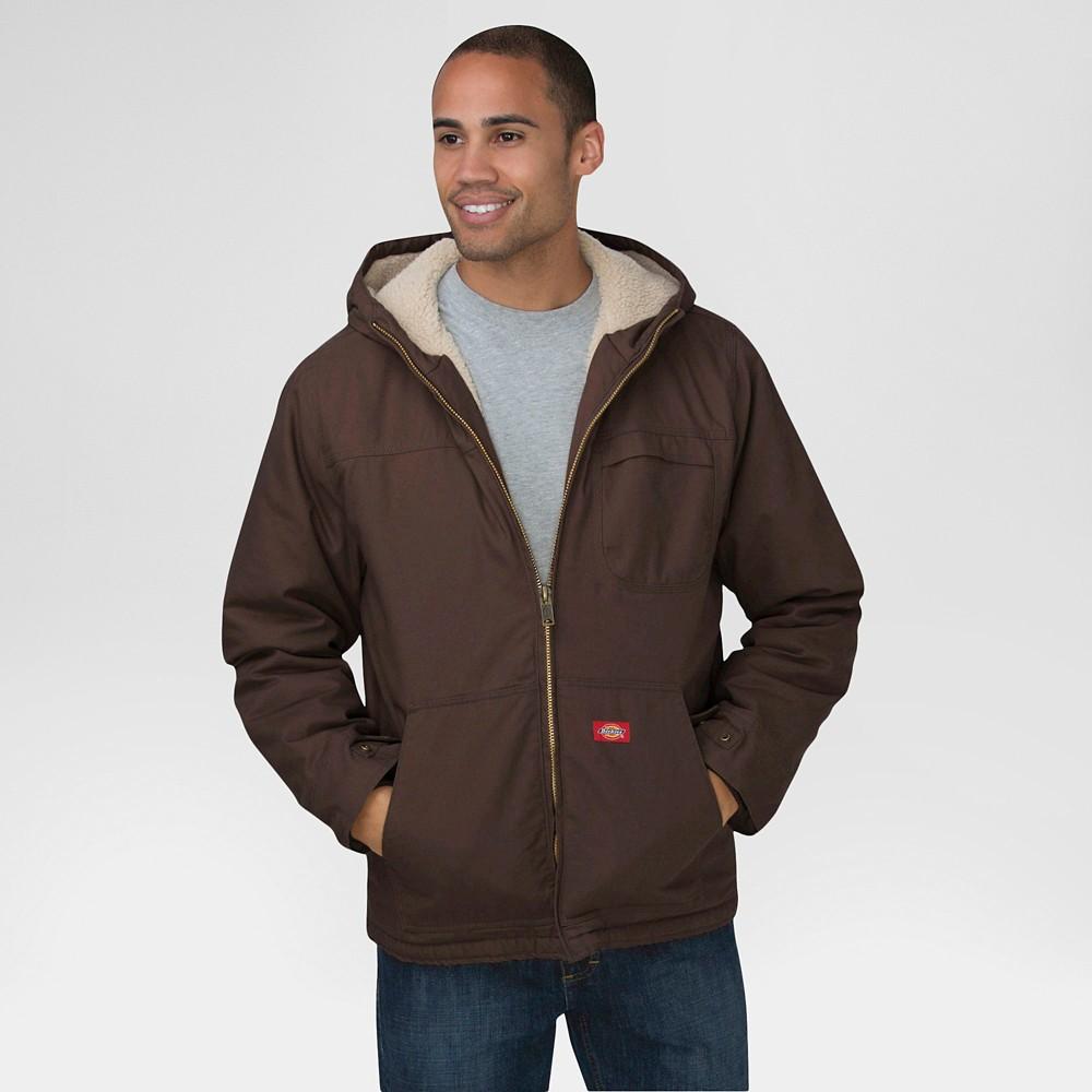 Dickies Men's Duck Sherpa Lined Hooded Jacket Big & Tall Chocolate Xxxl Tall, Chocolate Heather