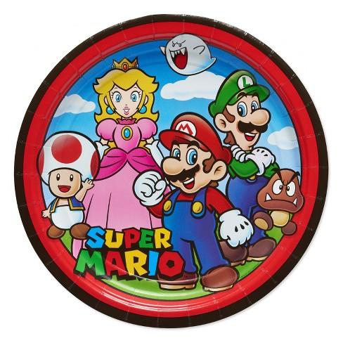 Super Mario Bros 9 Paper Plates 8ct Target