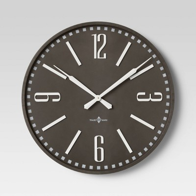 "32"" Wall Clock Brown - Threshold™"