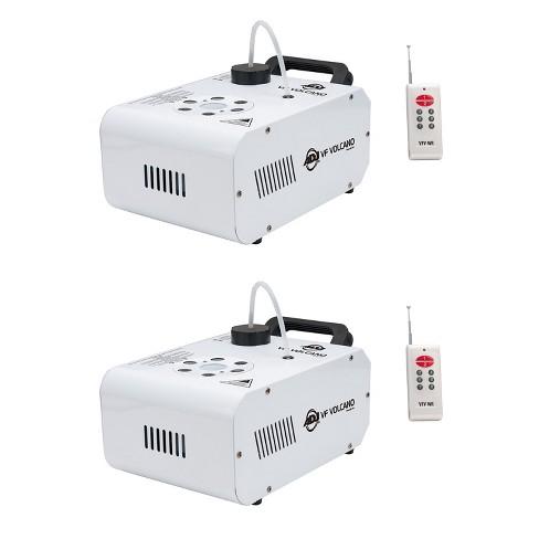 ADJ VF Volcano Fog Machine w/ 6 x 3W RGB LED Lighting w/ Remote, White (2 Pack) - image 1 of 4