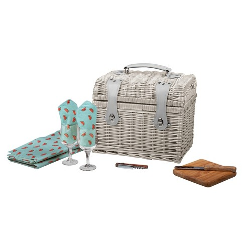 Picnic Time® 8pc Napa Wine & Cheese Basket - image 1 of 3