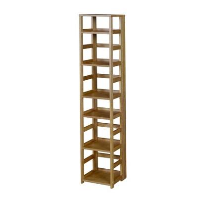 "67"" Cakewalk High Square Folding Bookcase Medium Oak - Regency"