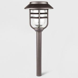 6pk Outdoor LED Pathway Lights Round Filament Bronze - Threshold™
