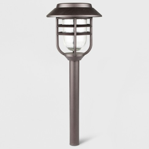6pk Outdoor LED Pathway Lights Round Filament Bronze - Threshold™ - image 1 of 3