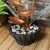 """Sunnydaze 34""""H Electric Copper Flower Petals with 5-Tier Leaves Outdoor Water Fountain - image 2 of 4"""