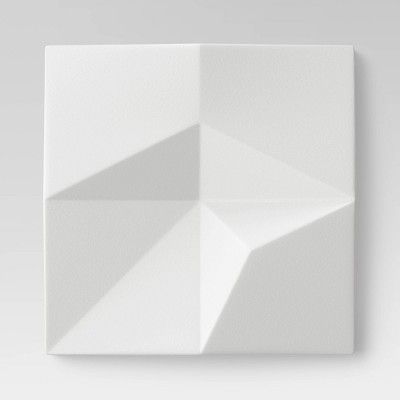 (Set Of 9)Dimensional Decorative Wall Art White - Project 62™