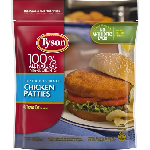 Tyson All Natural Chicken Breast Patties - Frozen - 26oz - image 1 of 4