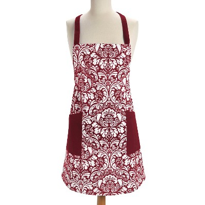 Damask Apron Wine - Design Imports