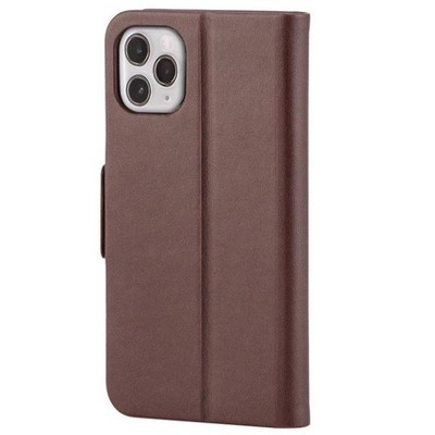 Monoprice iPhone 11 Pro Max (6.5)  PU Leather Wallet Case - Chocolate - Magnetic Cover, Integrated Stand, With Built-In Card Slots - FORM Collection