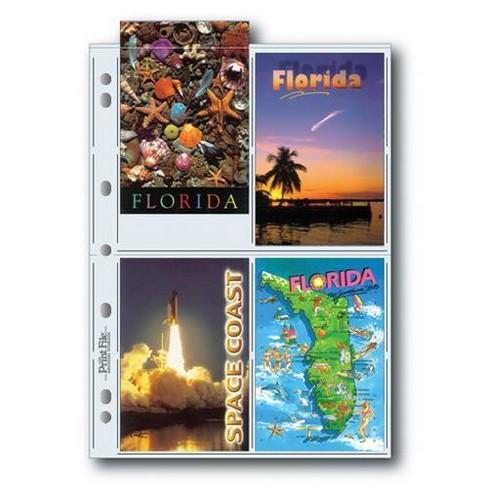 Print File 8mil Polypropylene Postcard Album Pages, 25 Pack - image 1 of 1
