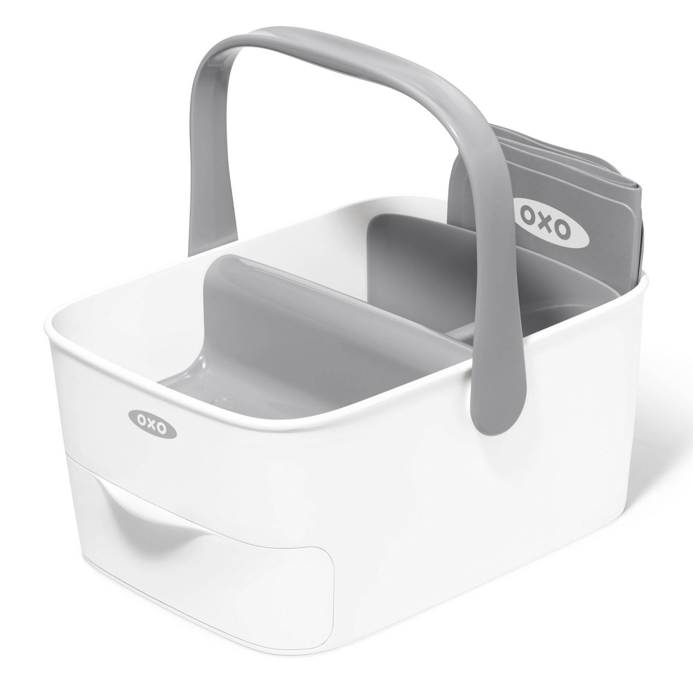 Oxo Travel Diaper Caddy With Changing Mat Gray