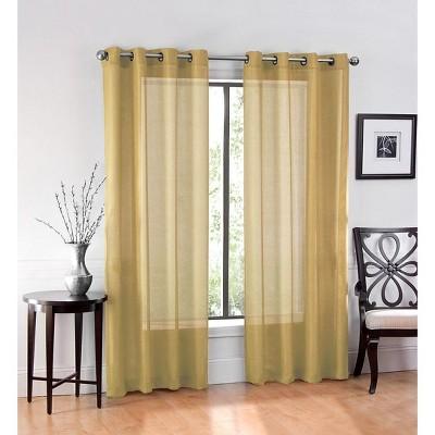 GoodGram Ultra Luxurious Elegant Sheer Grommet Curtain Panel