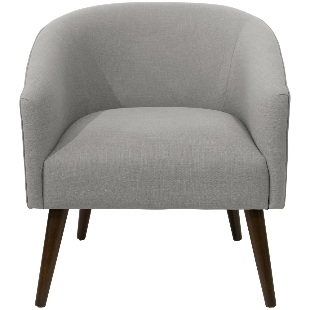 Natalee Chair Grey Linen with Espresso Legs - Cloth & Co.
