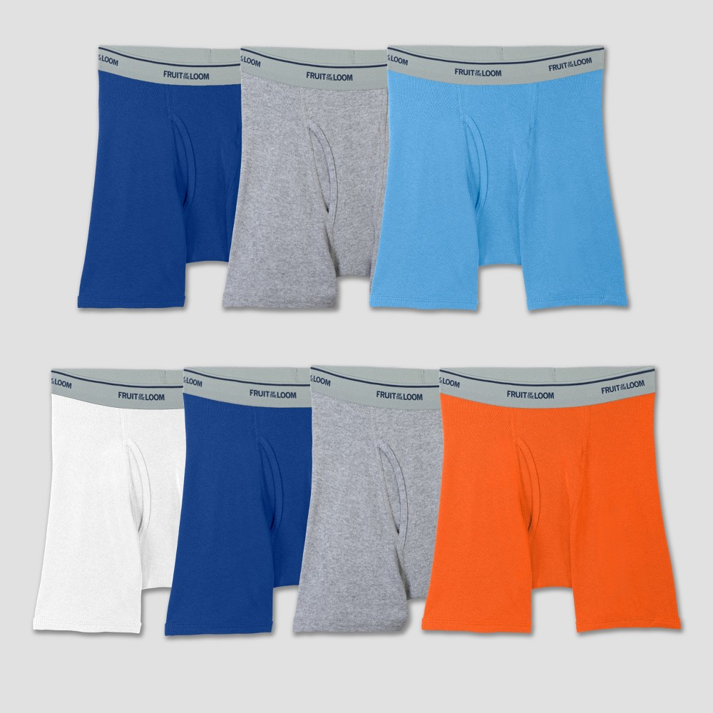 Fruit Of The Loom Boys' 7pk Boxer Briefs - Colors Vary M, Multicolored