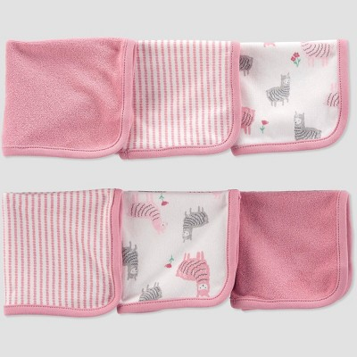 Baby Girls' Llama Washcloth Set - Just One You® made by carter's Pink