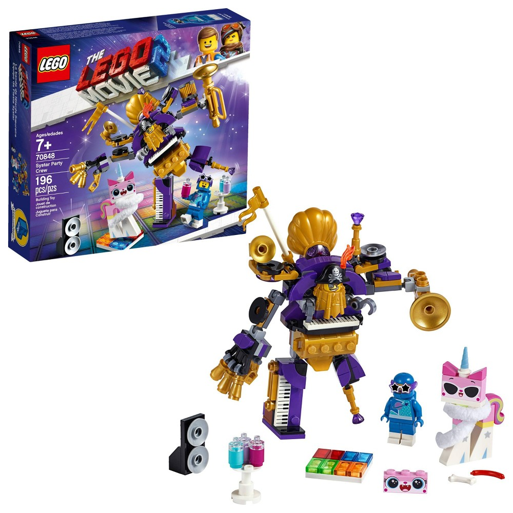 LEGO THE LEGO Movie 2 Systar Party Crew 70848 One-Man-Metal-Band Mech Figure Building Kit 196pc