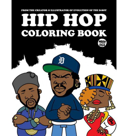 Hip Hop Adult Coloring Book. - image 1 of 1