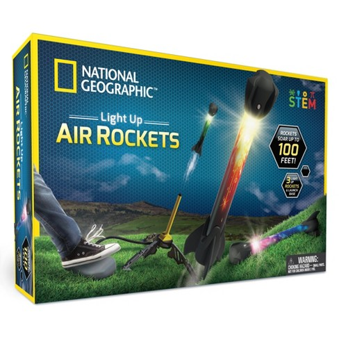 National Geographic Light Up Air Rockets Activity Set Target